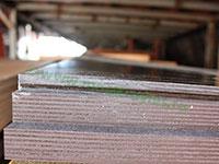 Торец ламинированной фанеры толщиной 6,5мм марки ФОФ
