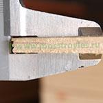 Торец фанеры толщиной 6мм - видно 5 слоёв шпона